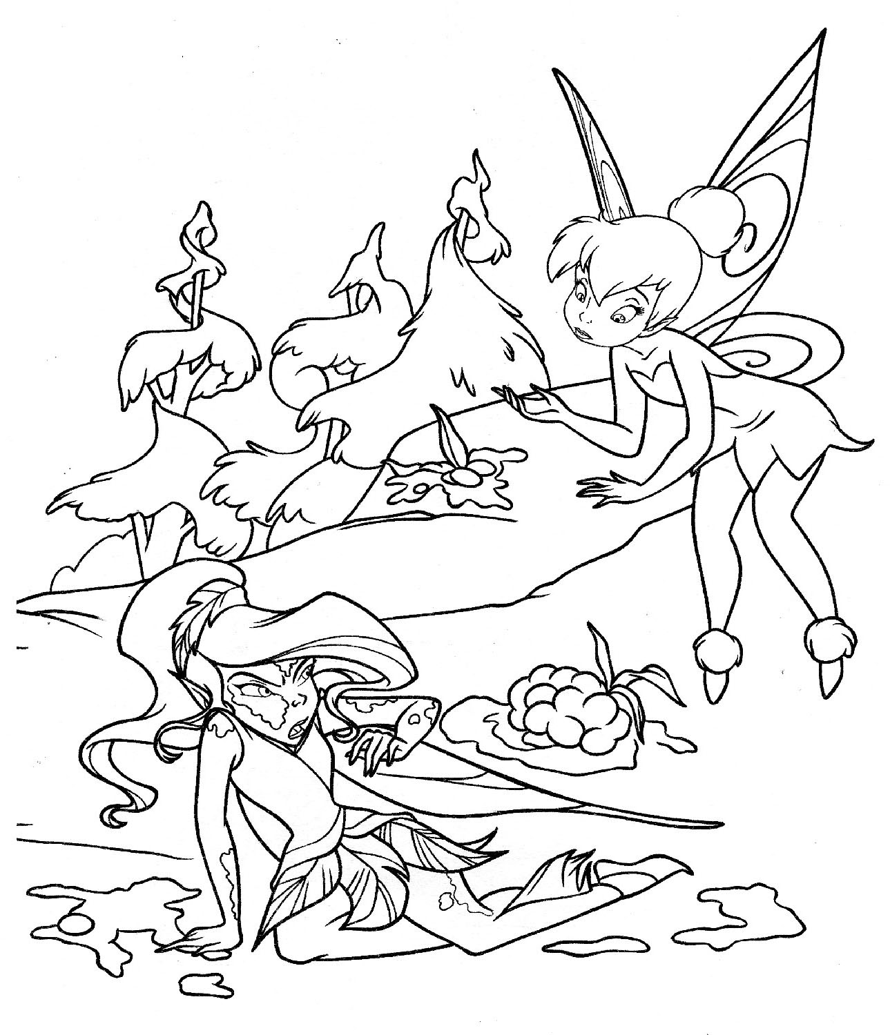 baby tinkerbell coloring pages - photo#8