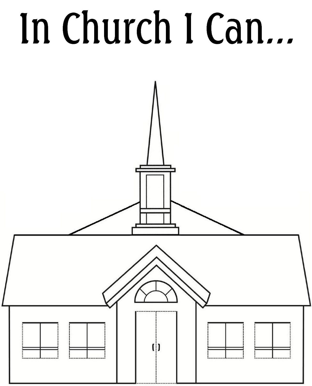 Church coloring pages to download