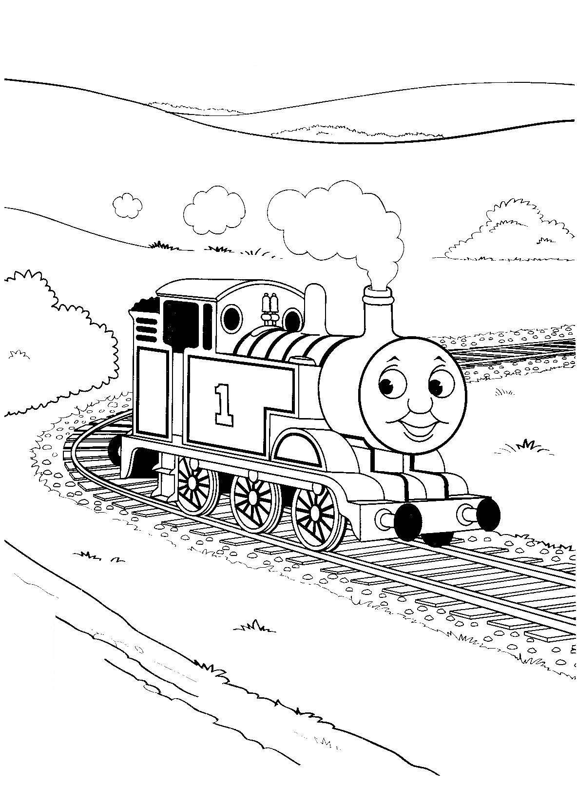 Thomas the tank engine coloring pages to download and print for free