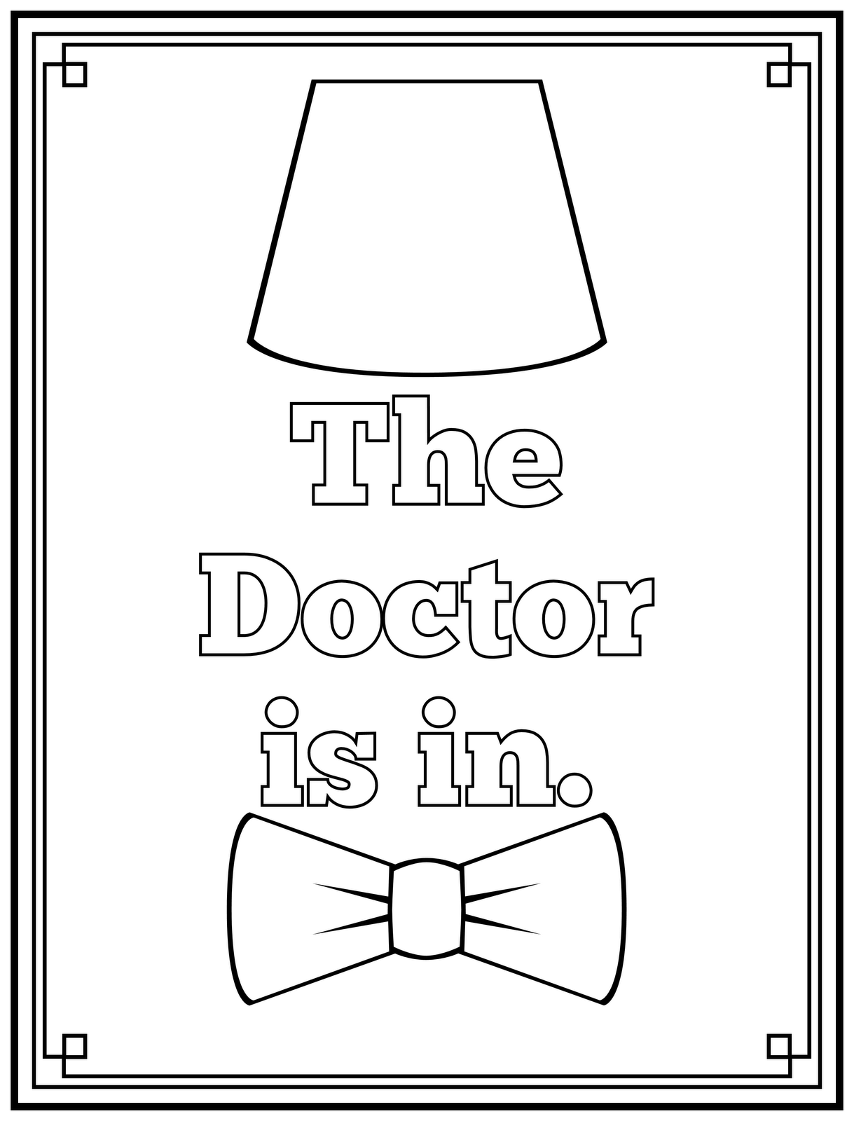 free doctor coloring pages - photo#23