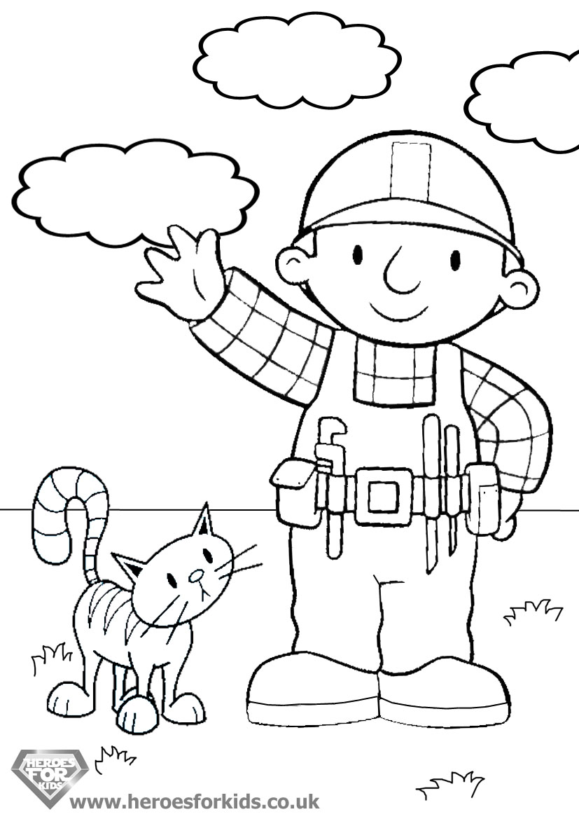 the builder coloring pages to download and print for free