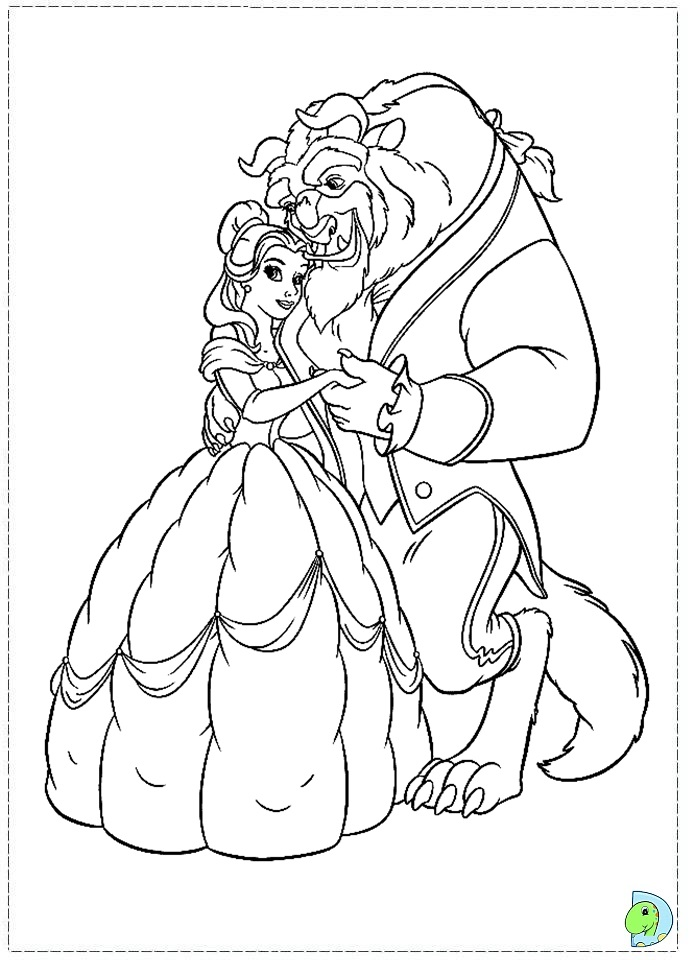 Beauty and the beast coloring pages to download and print ...