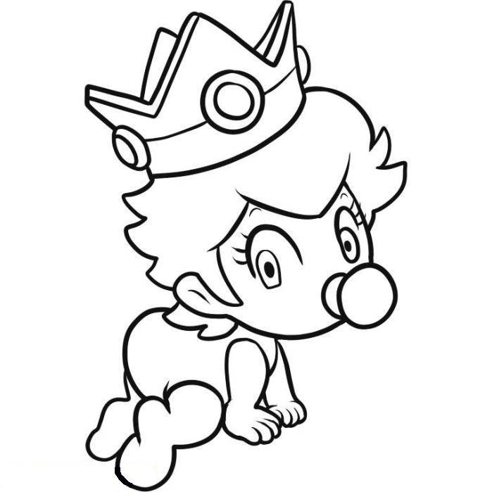 Baby princess coloring pages to
