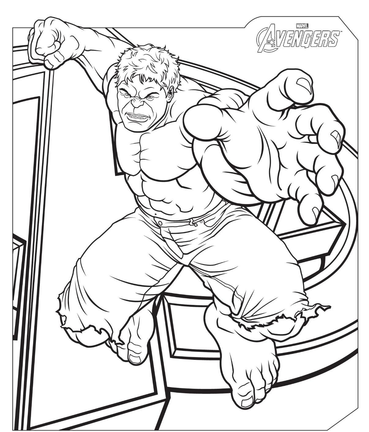 Avengers coloring pages to download