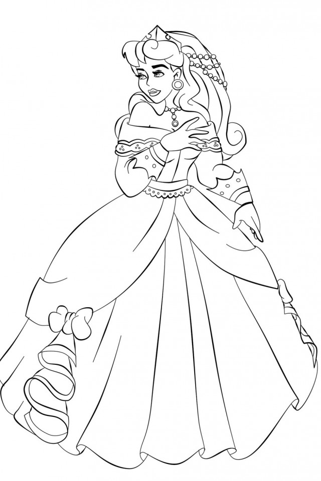 Aurora coloring pages to download