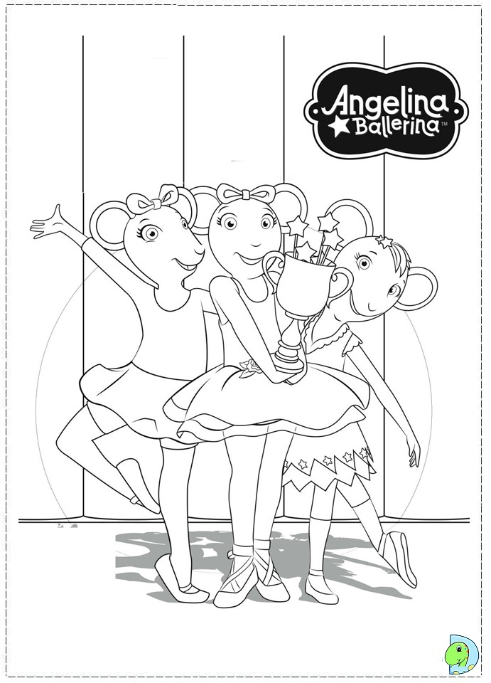 printable coloring pages angelina ballerina - photo#22