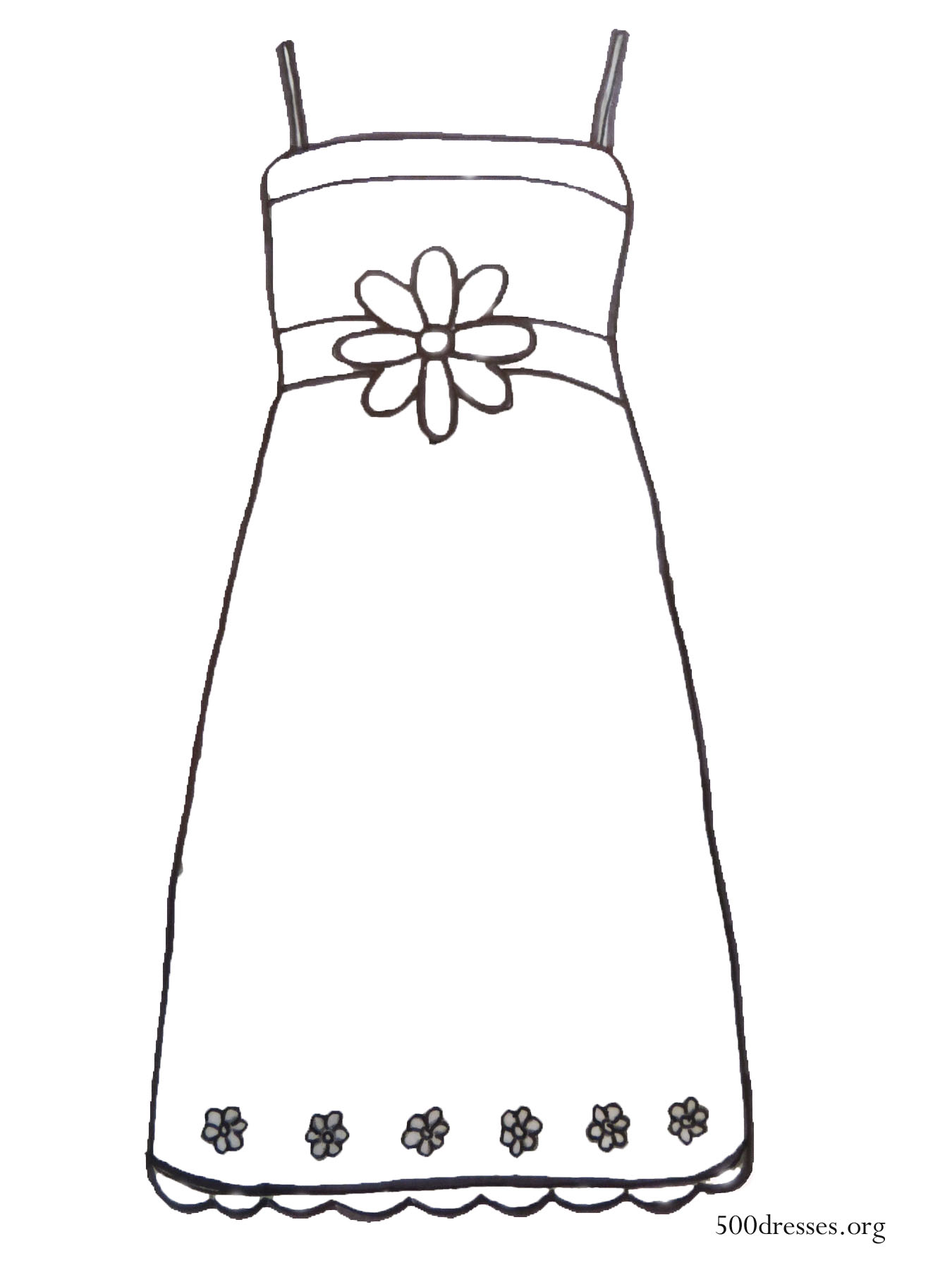 dress templates coloring pages - photo#11