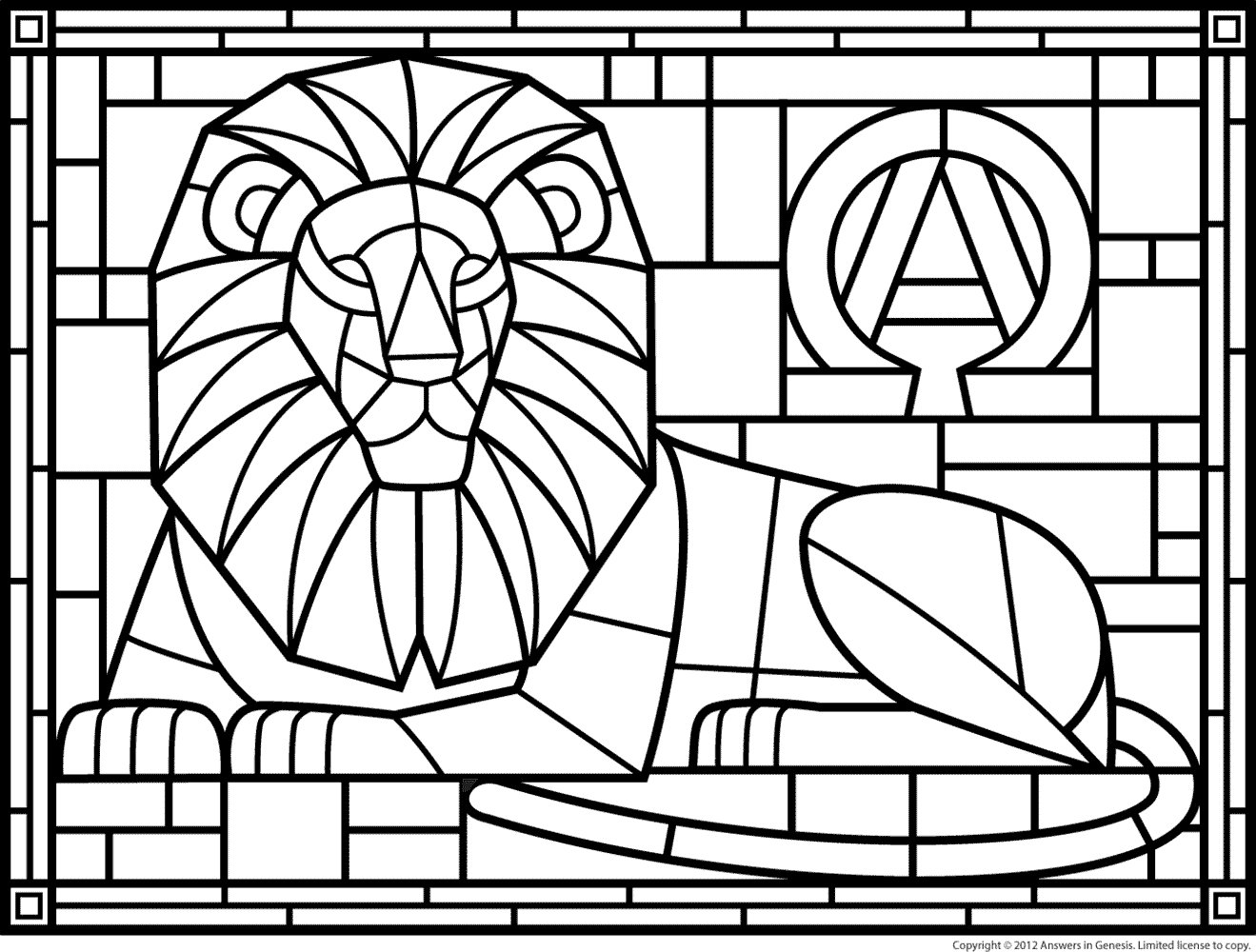 Stained Glass Window Coloring Pages Download And Print For