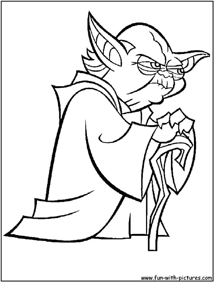 free coloring pages and star wars | Star wars yoda coloring pages download and print for free