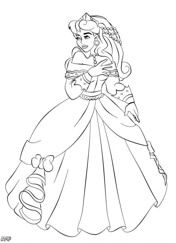 Aurora disney princess coloring