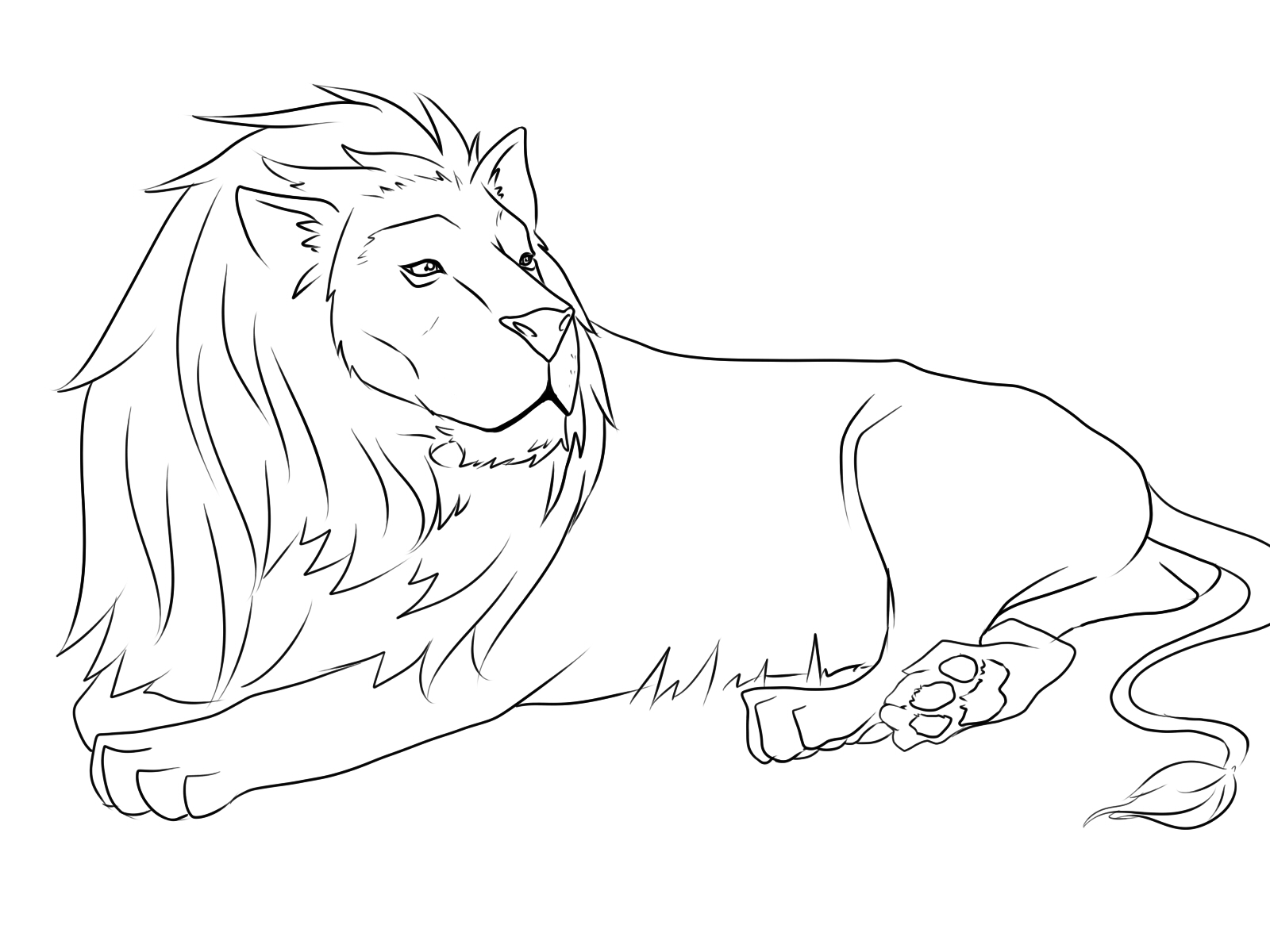 free coloring pages of lions - photo#20
