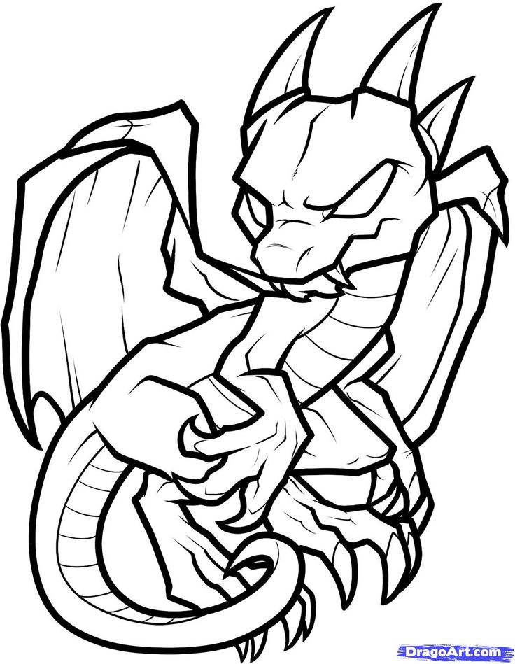 dragon clip art coloring pages - photo#31
