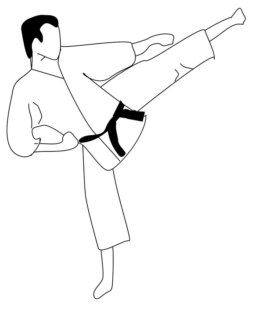 karate coloring pages Just Colorings