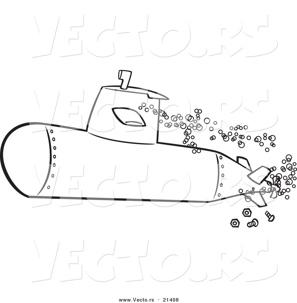 Submarine coloring pages to download
