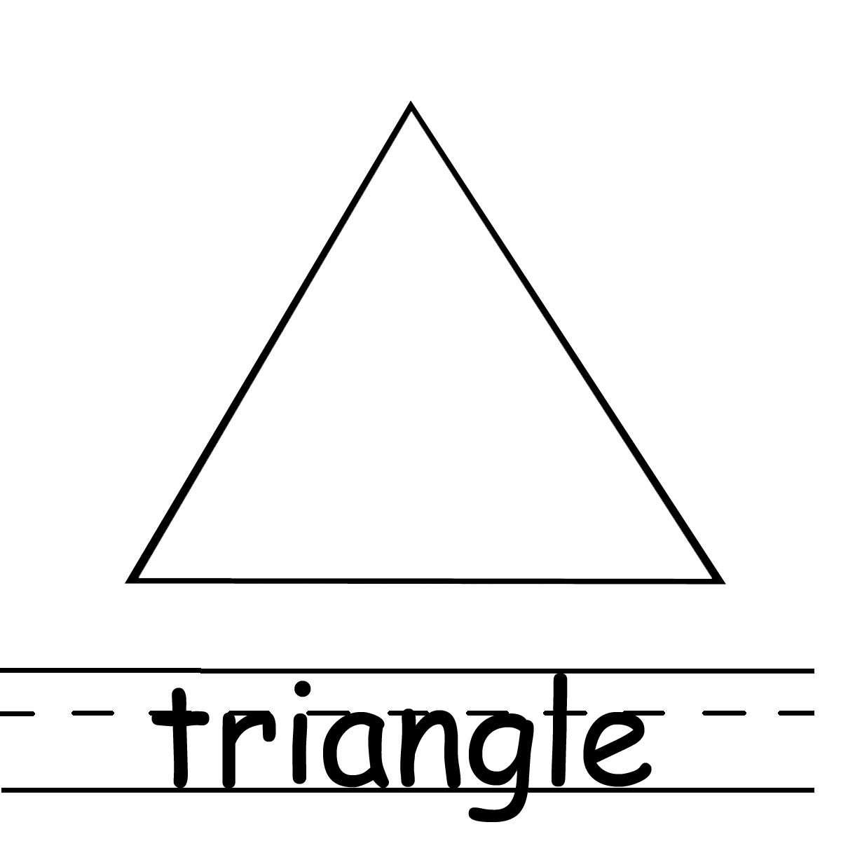 Triangles Coloring Pages Print