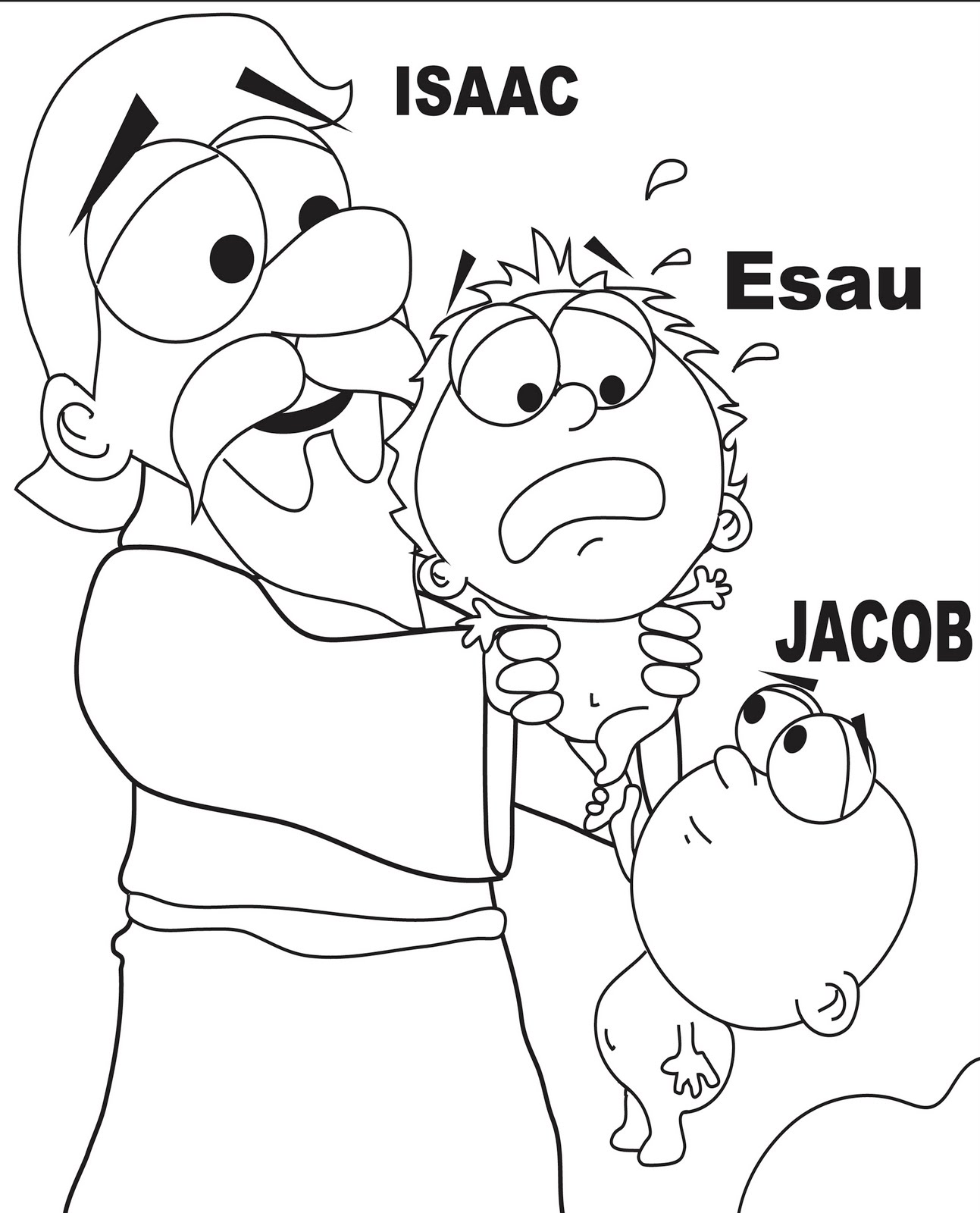 baby isaac bible coloring pages - photo#31