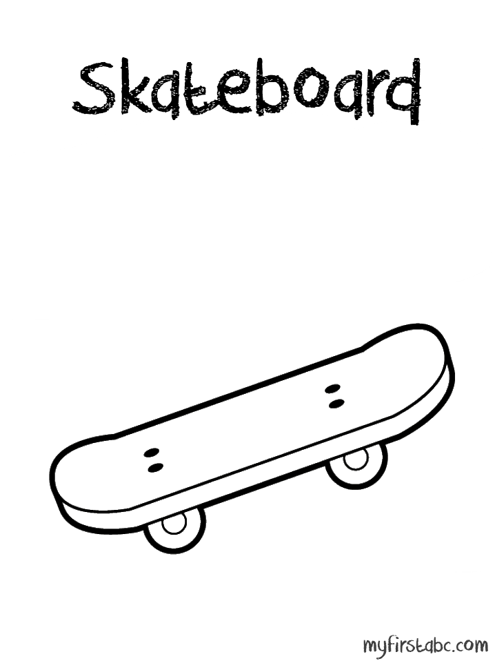 Skateboard coloring pages to download