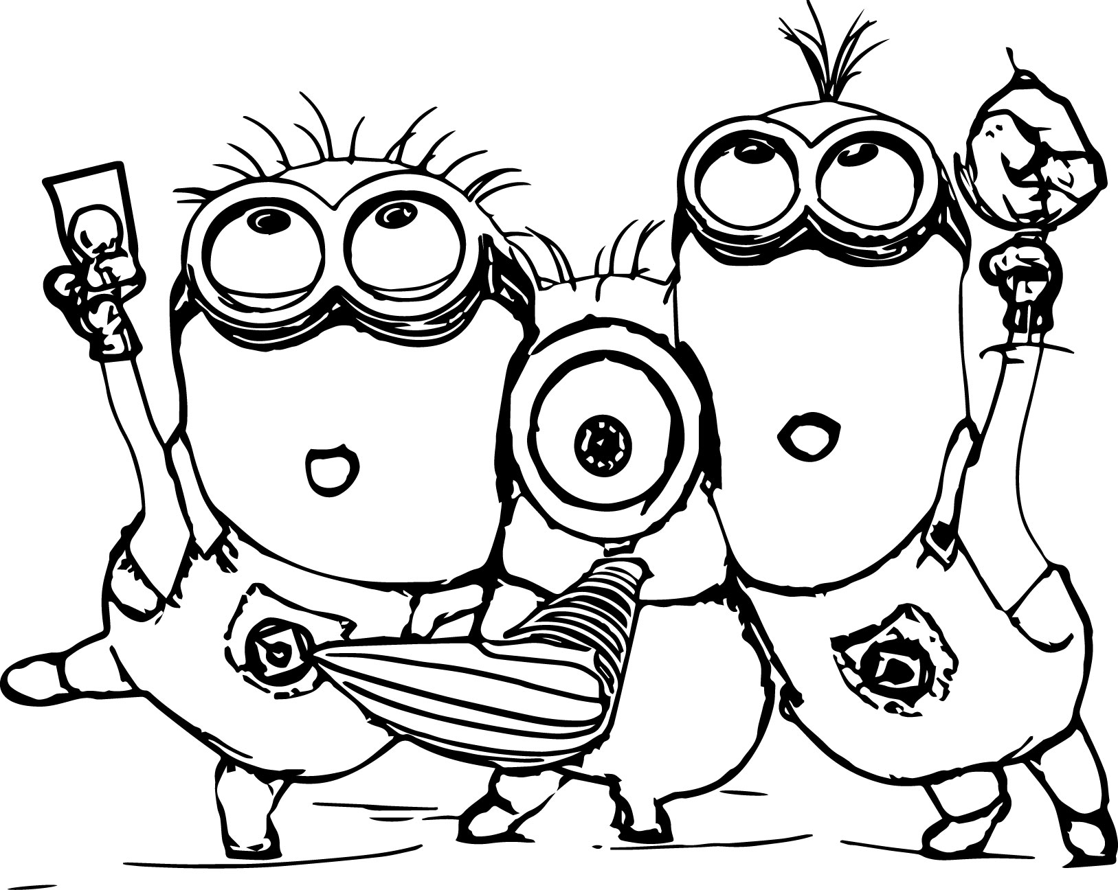 Disney Coloring Pages For 3 Year Olds : Vampire minion coloring pages download and print for free