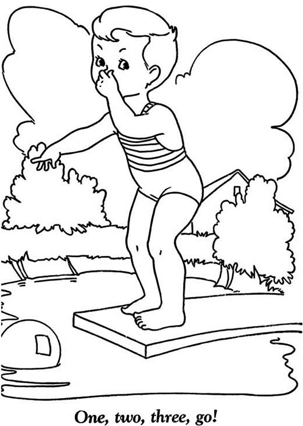 coloring pages swimming pool - photo#27