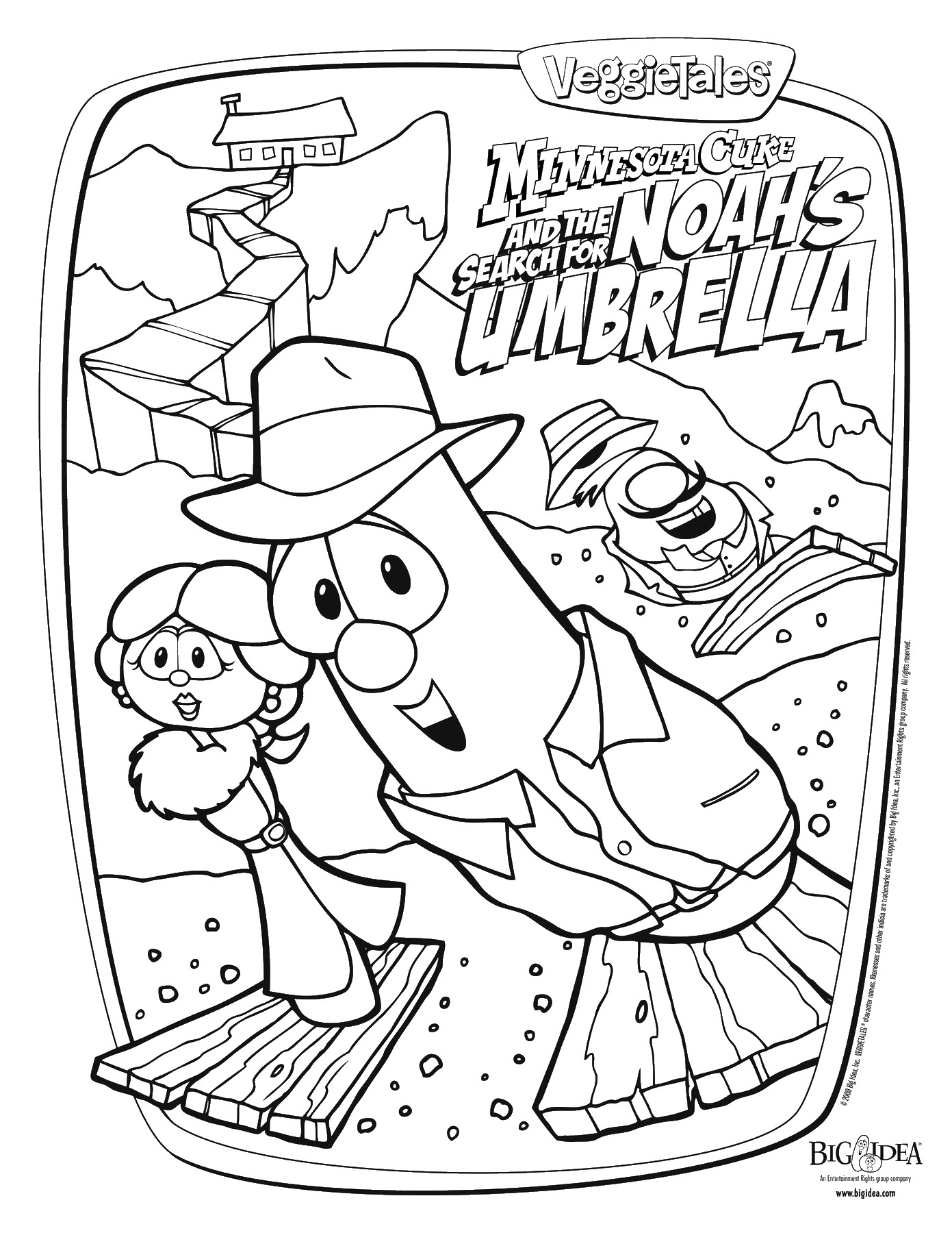 Veggie Tales Coloring Pages Download And Print For Free