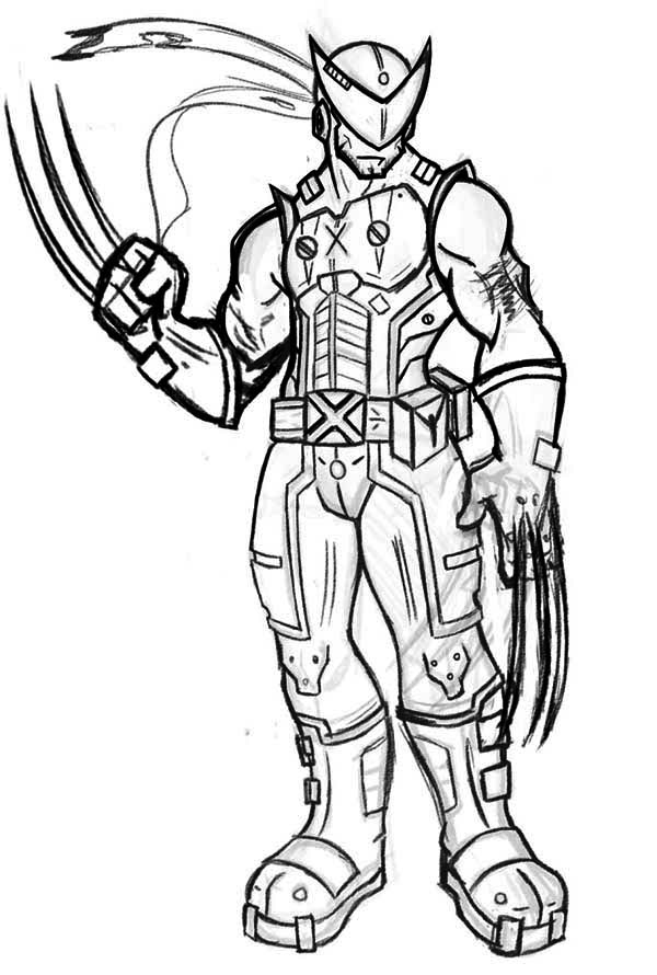 Wolverine coloring pages to download