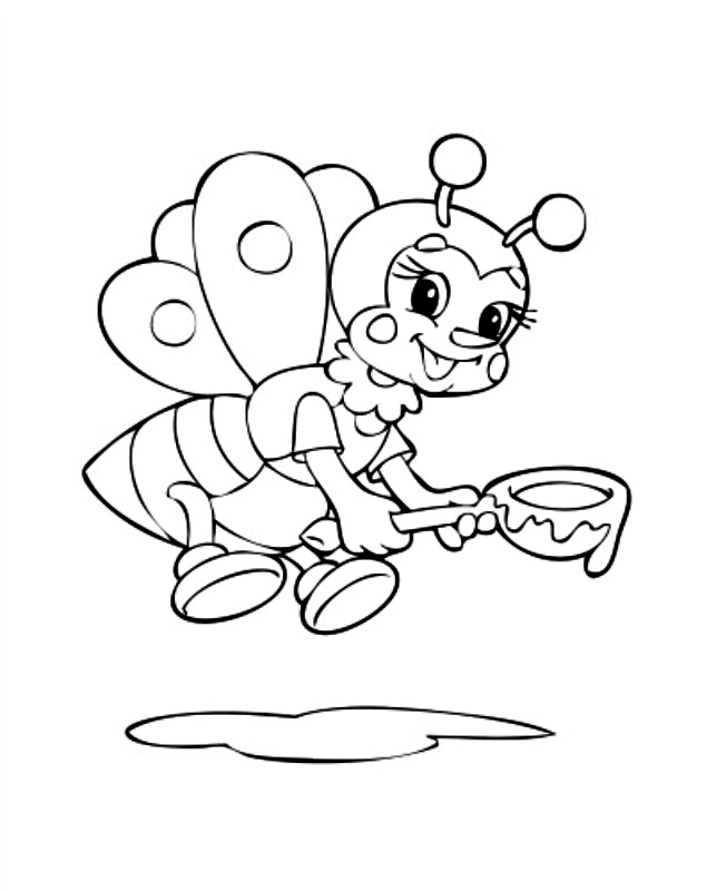 free bee coloring pages - photo#45