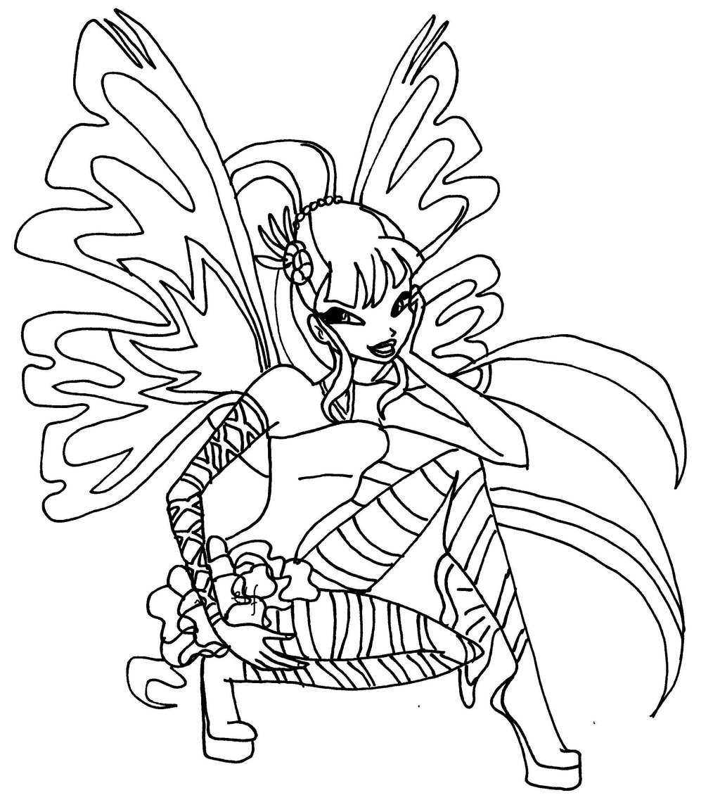 Musa winx coloring pages download and print for free - Winx coloriage a imprimer ...