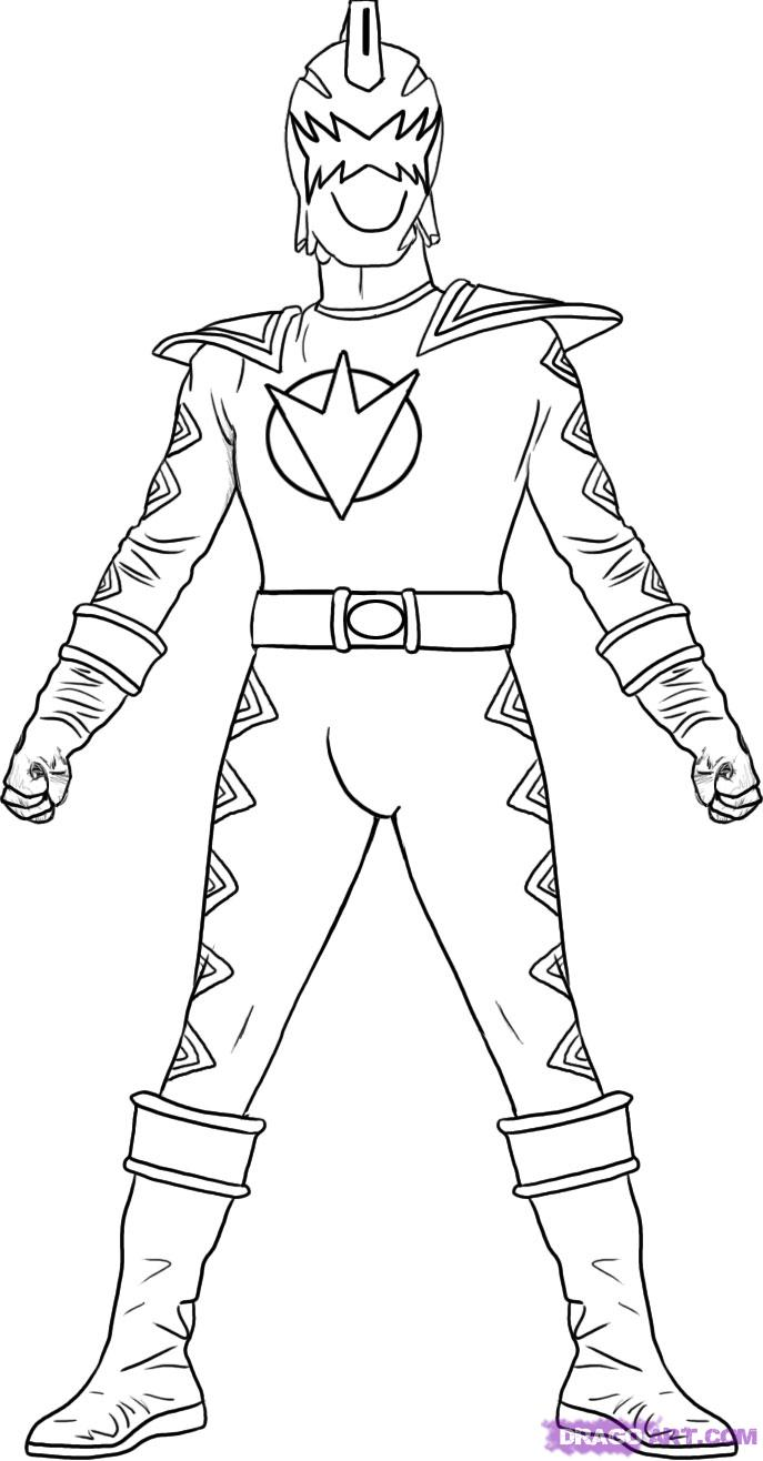 red power rangers coloring pages download and print for free