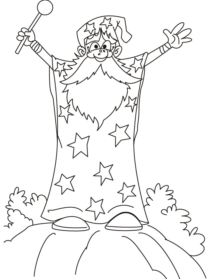 printable coloring pages wisards - photo#6