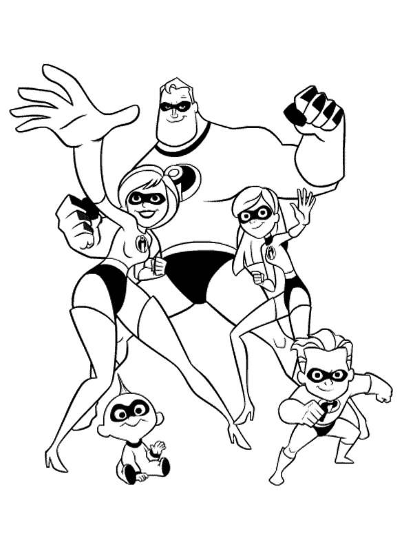 Incredibles 2 coloring pages download and print for free