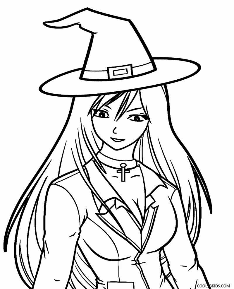 witch coloring pages to download and print for free