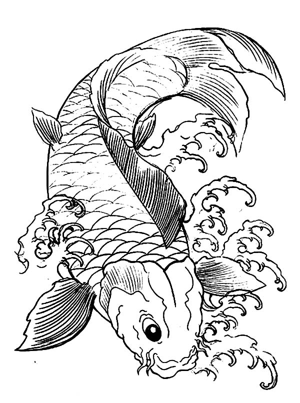 Japanese koi coloring pages download