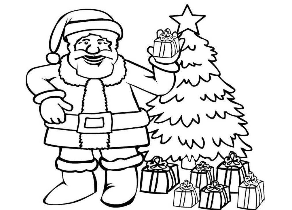 Santa claus coloring pages to download
