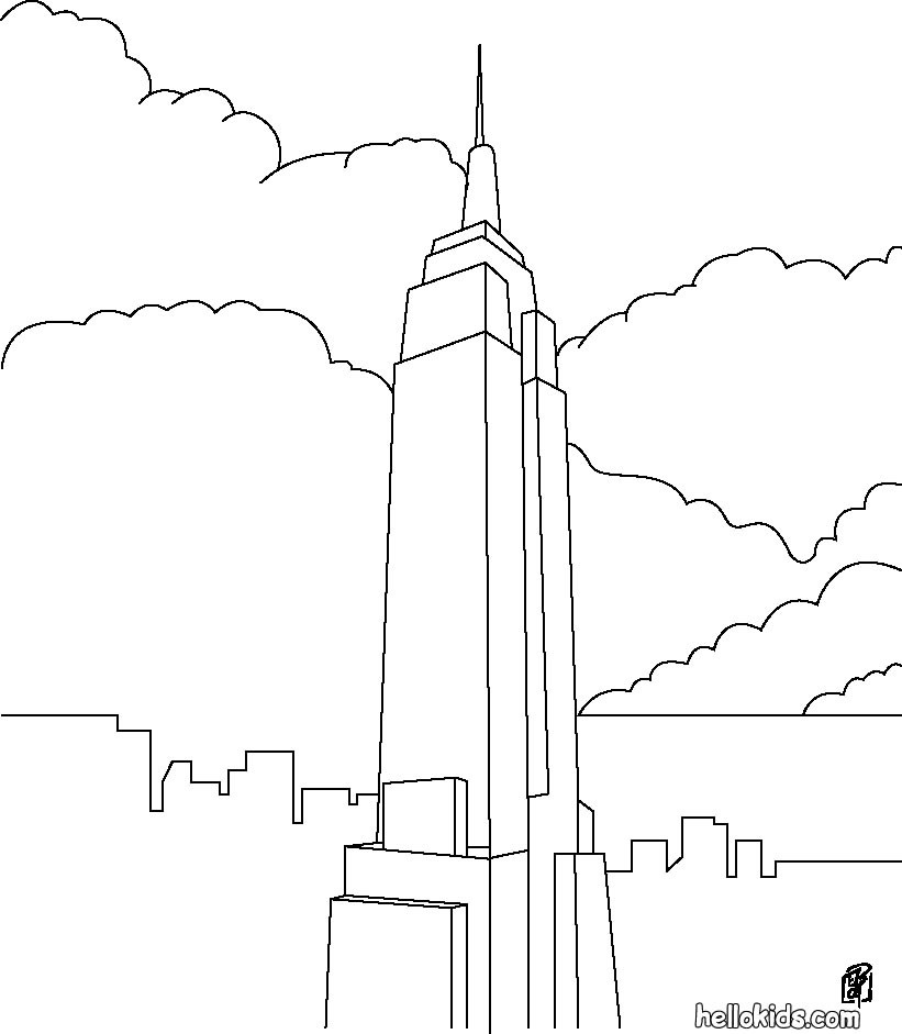 Us landmarks coloring pages download