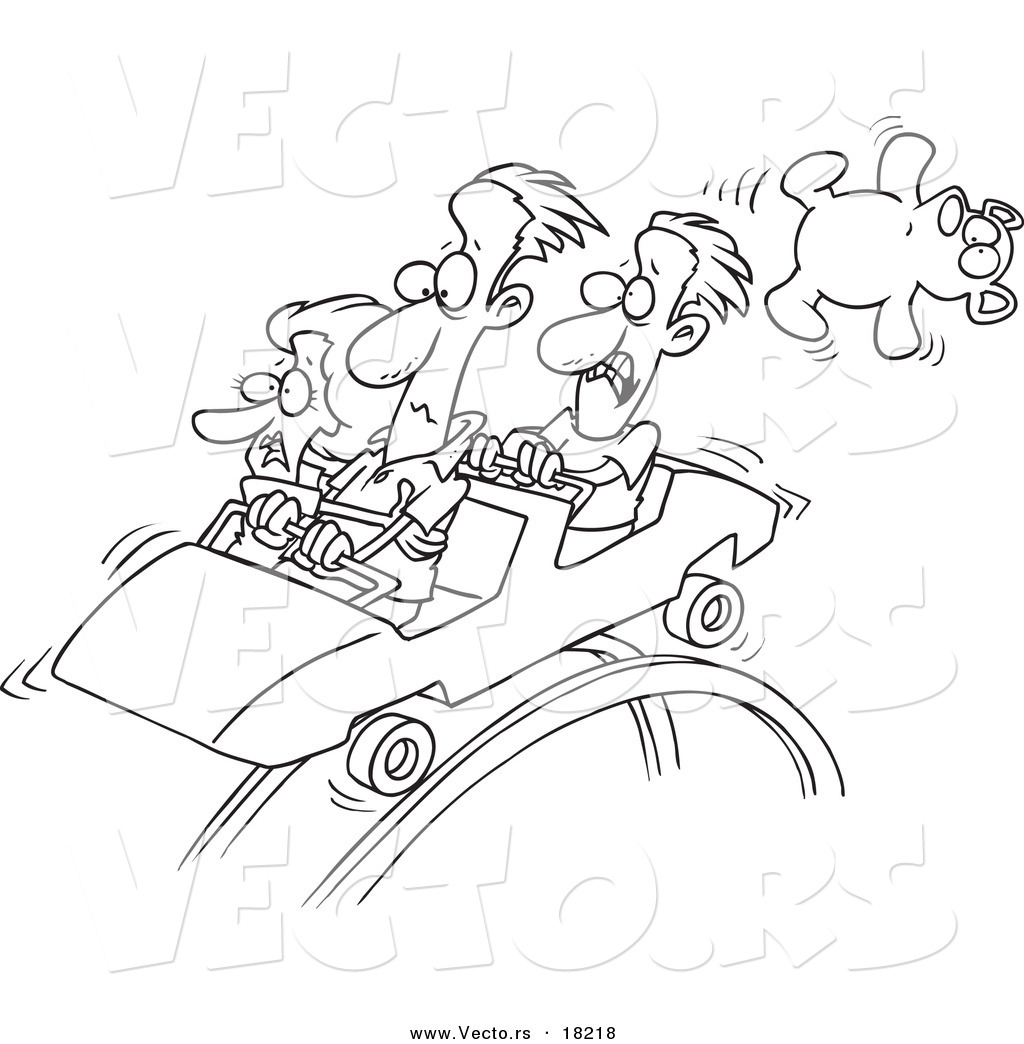 Roller coaster coloring pages download