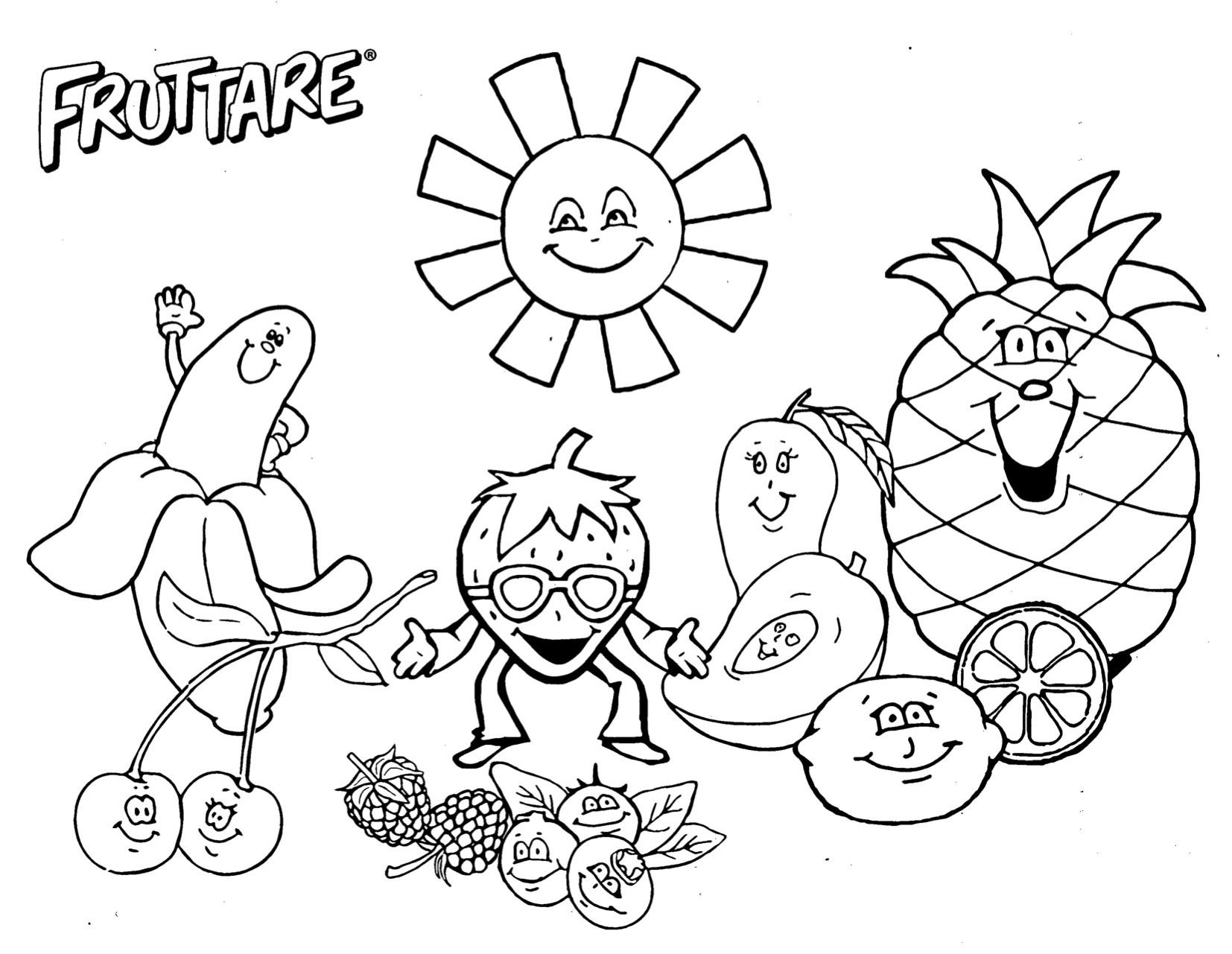 salad coloring pages download and print for free