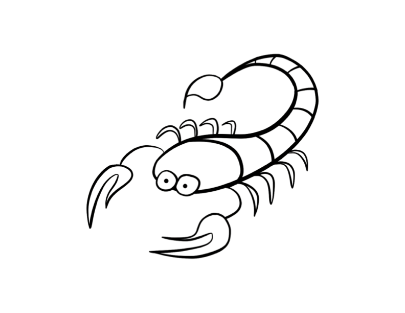 Scorpion coloring pages to download and print for free
