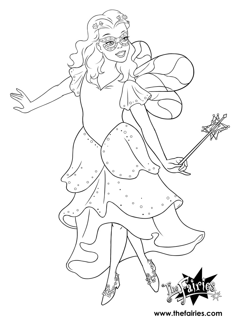 Rainbow magic coloring pages to
