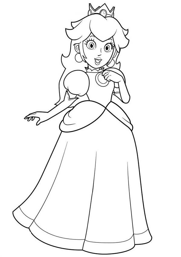 Princess Peach Coloring Pages To Download And Print For Free