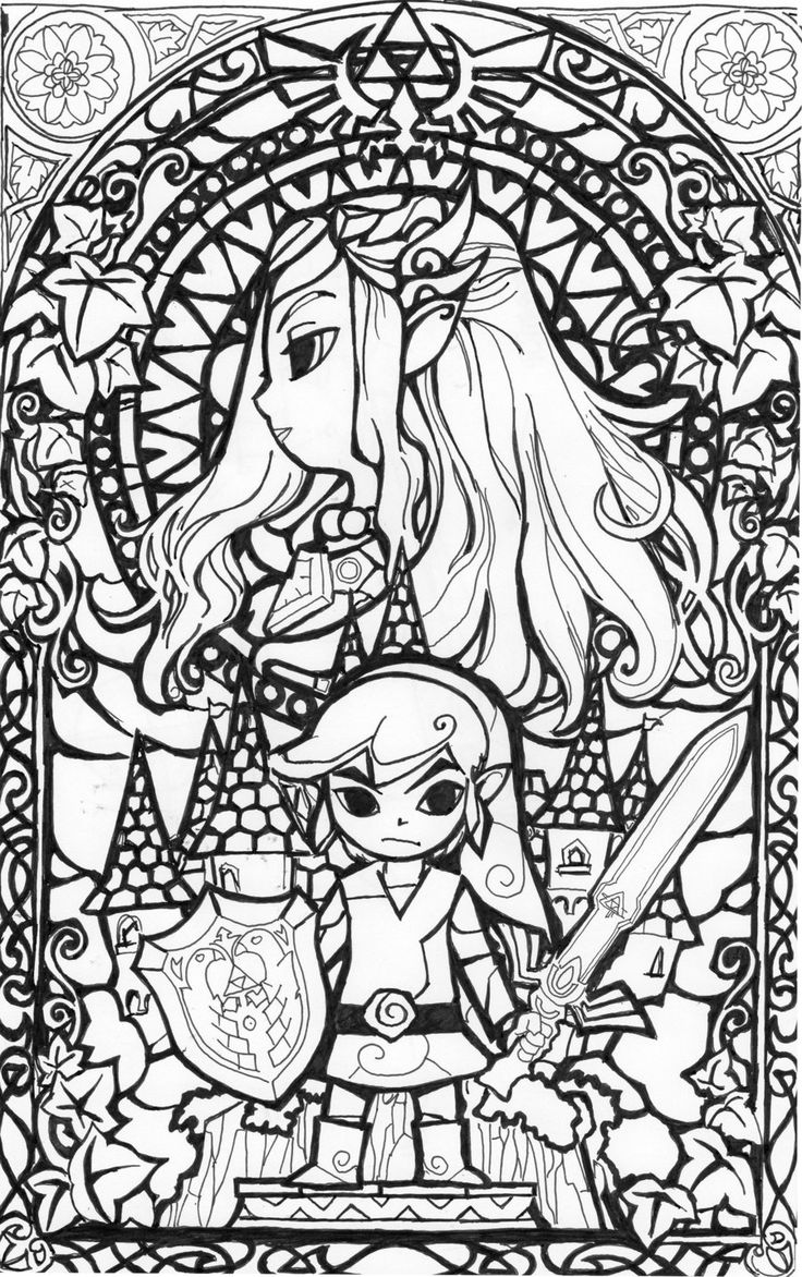 Zelda coloring pages to download and print for free
