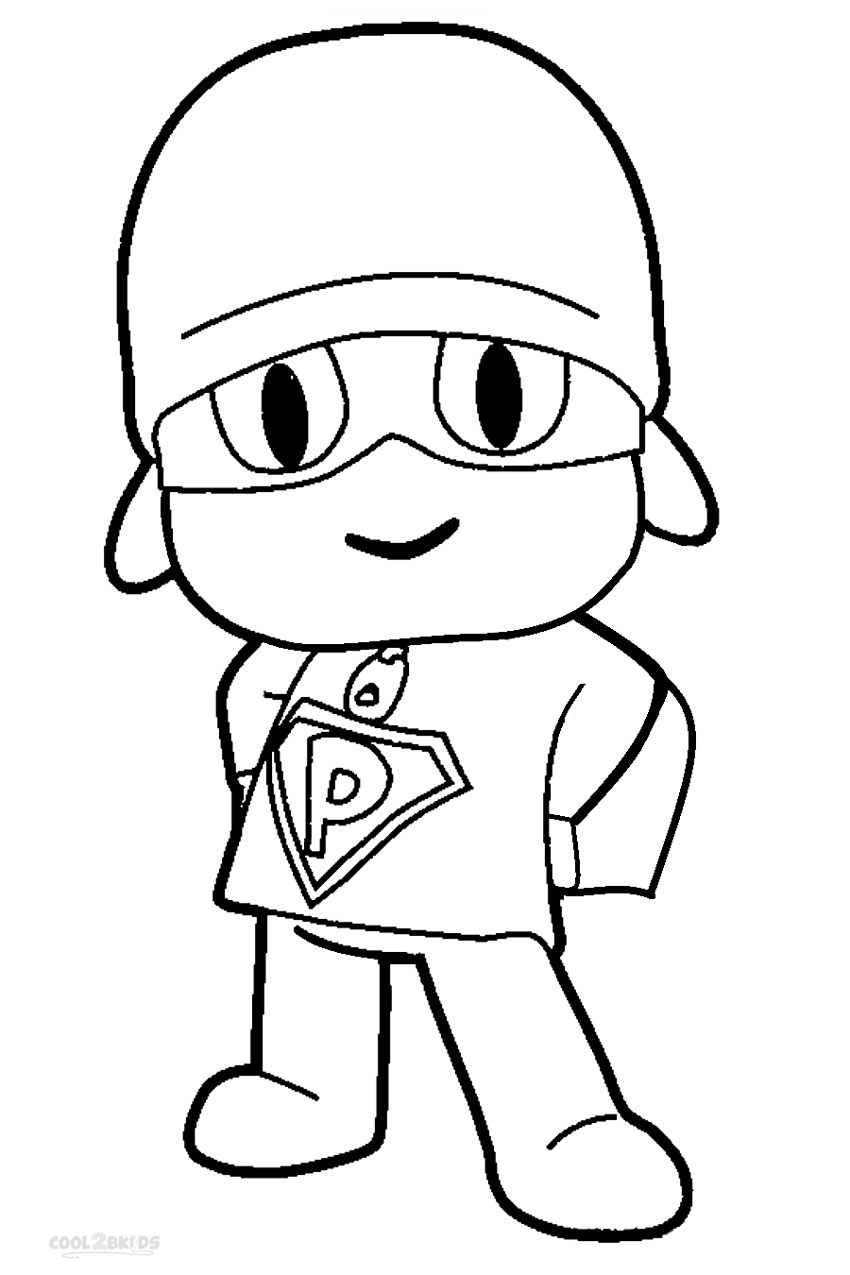 Pocoyo coloring pages to download