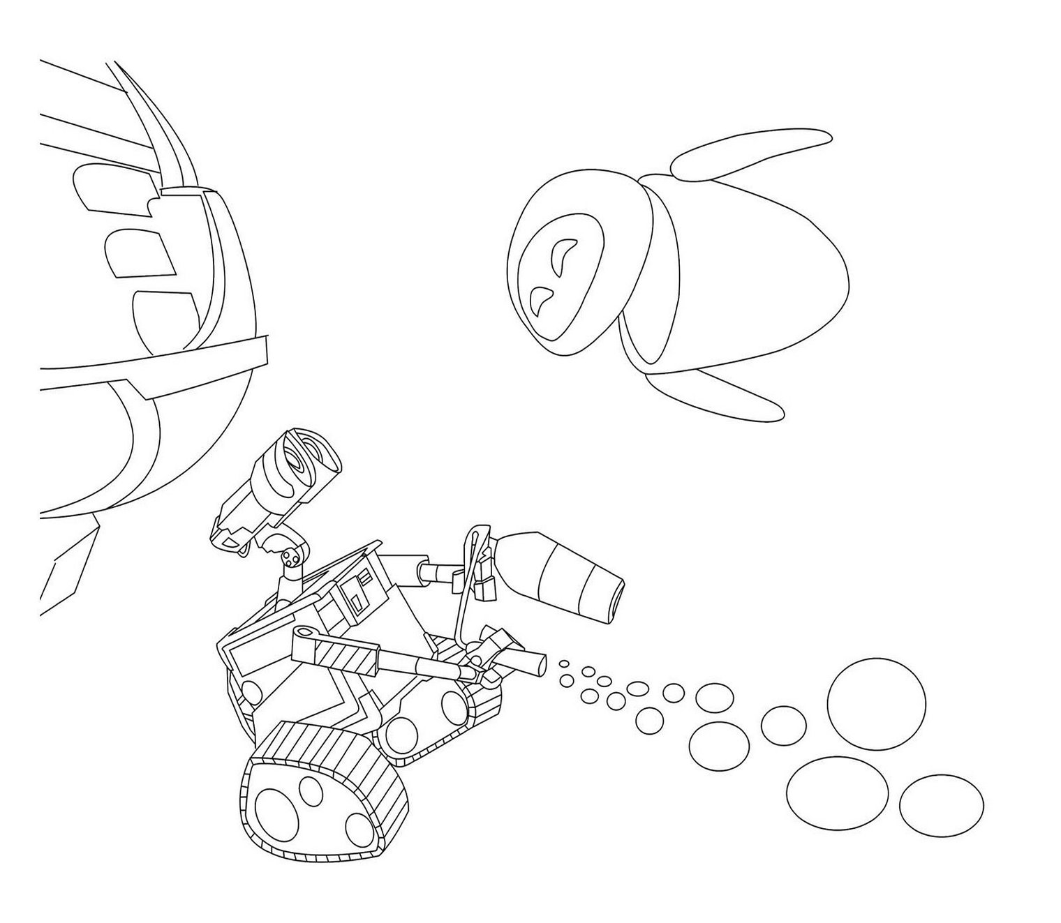 Long e coloring pages - Wall E Coloring Pages