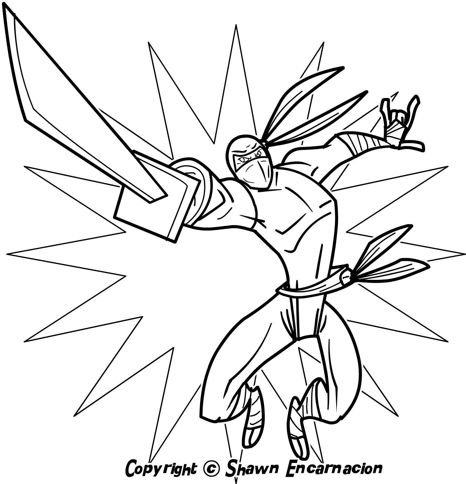 free ninja star coloring pages - photo#11