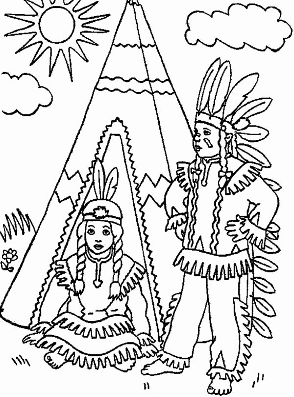 Native american coloring pages to download and print for free for Native american printable coloring pages