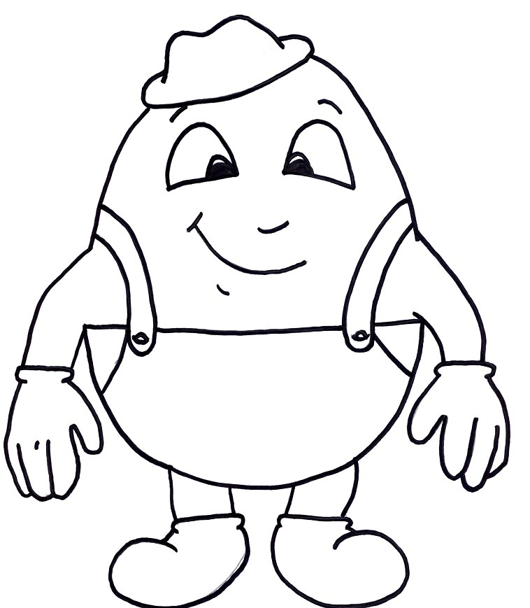 humpty dumpty coloring pages - photo#14