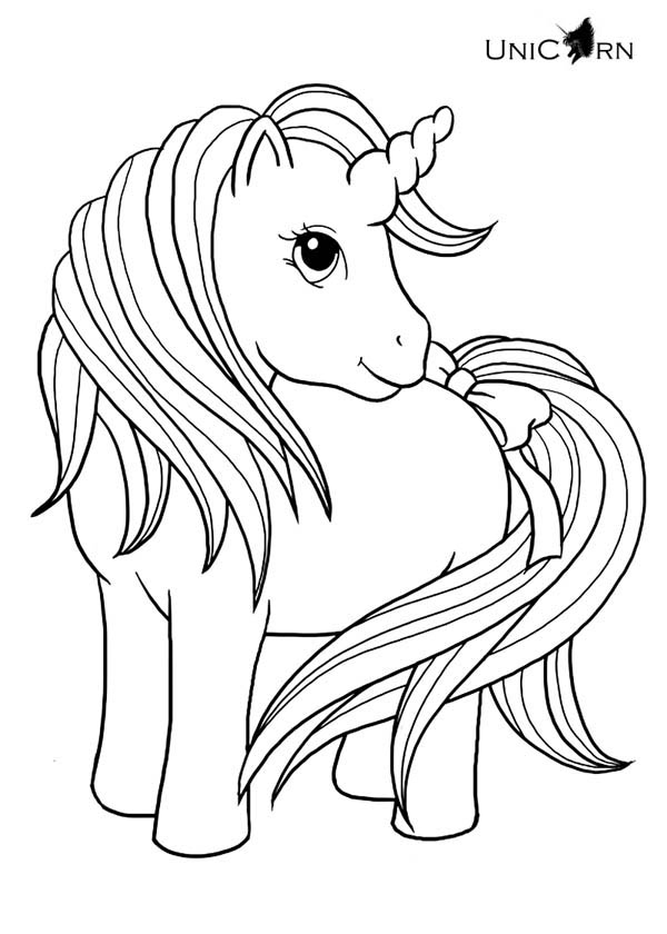 beautiful unicorn coloring pages - photo#33