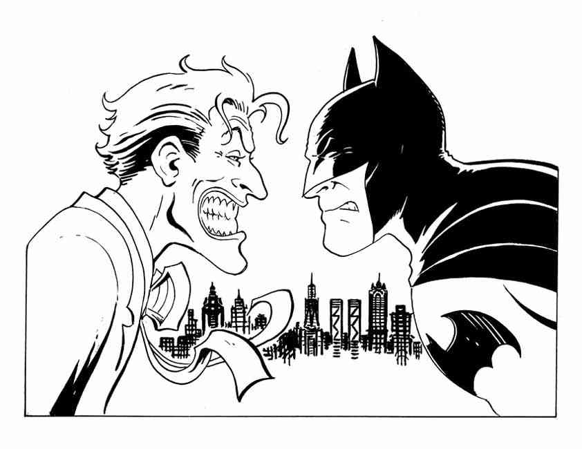 the joker coloring book pages - photo#21