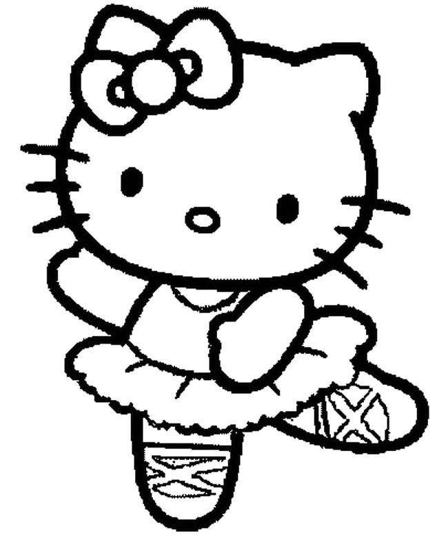 Hello kitty mermaid coloring pages to download and print