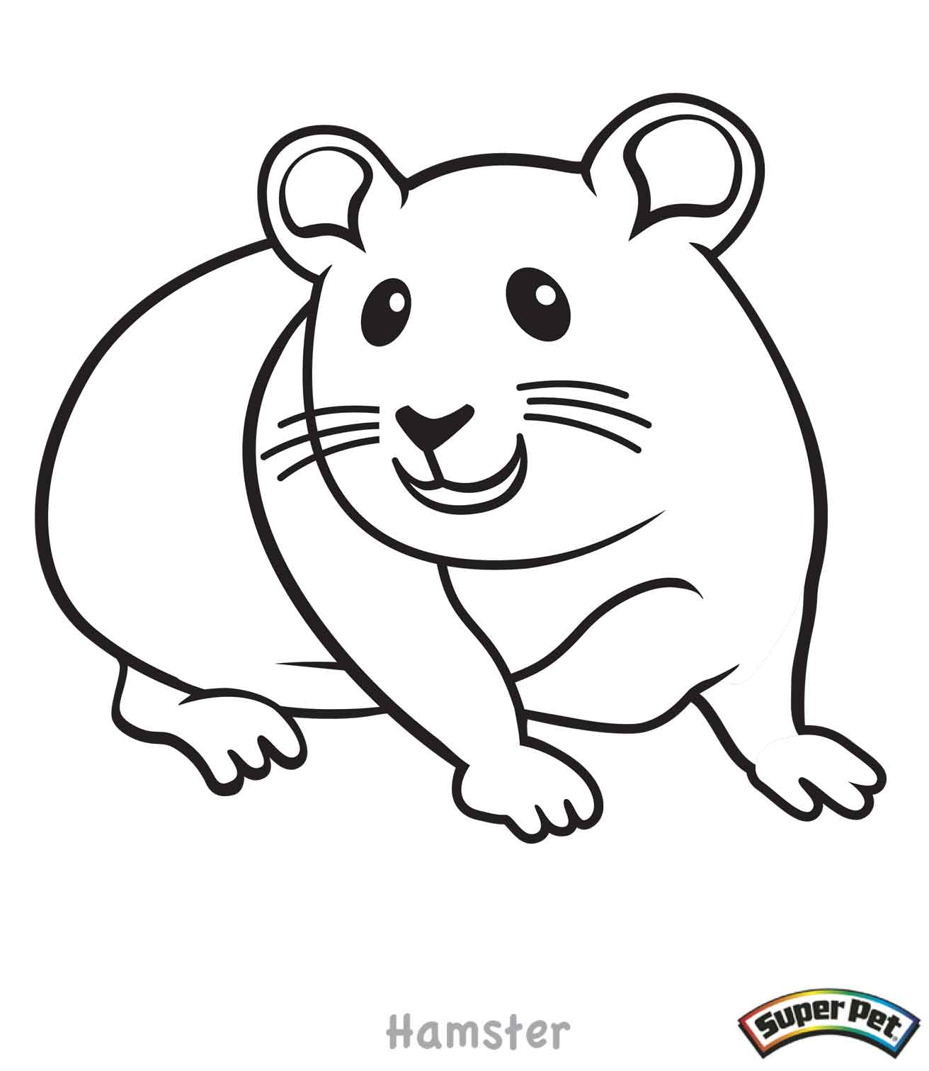 Hamster coloring pages to download