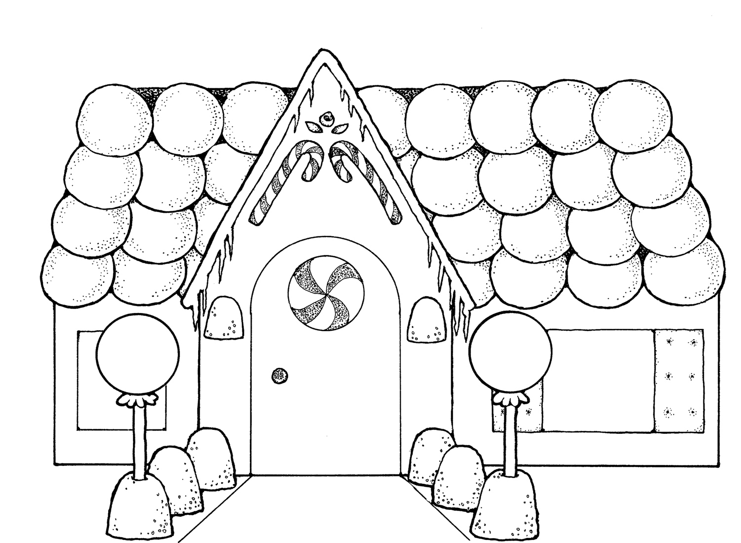 gingerbread house candy coloring pages - photo#24